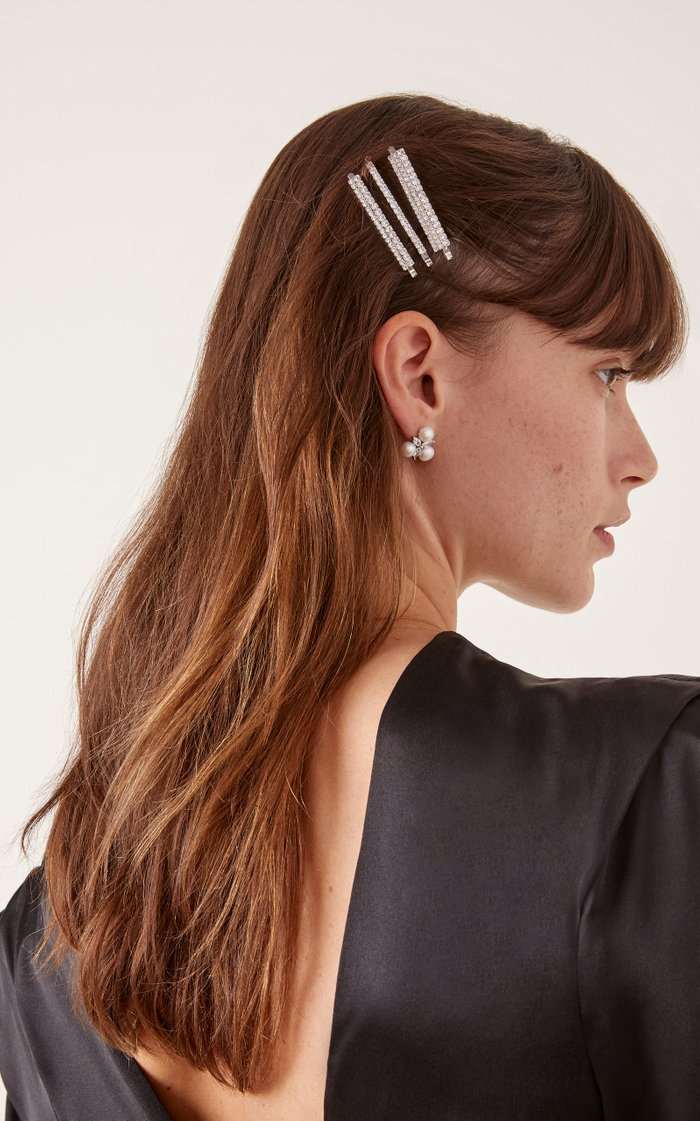Set-Of-Three Crystal-Embellished Hair Clips