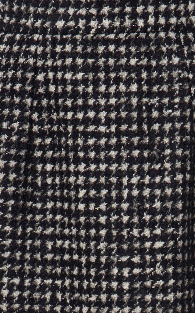 Checked Tweed Tailored Midi Skirt