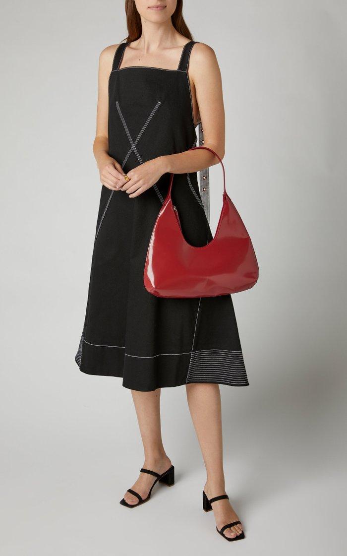 Amber Patent Leather Shoulder Bag