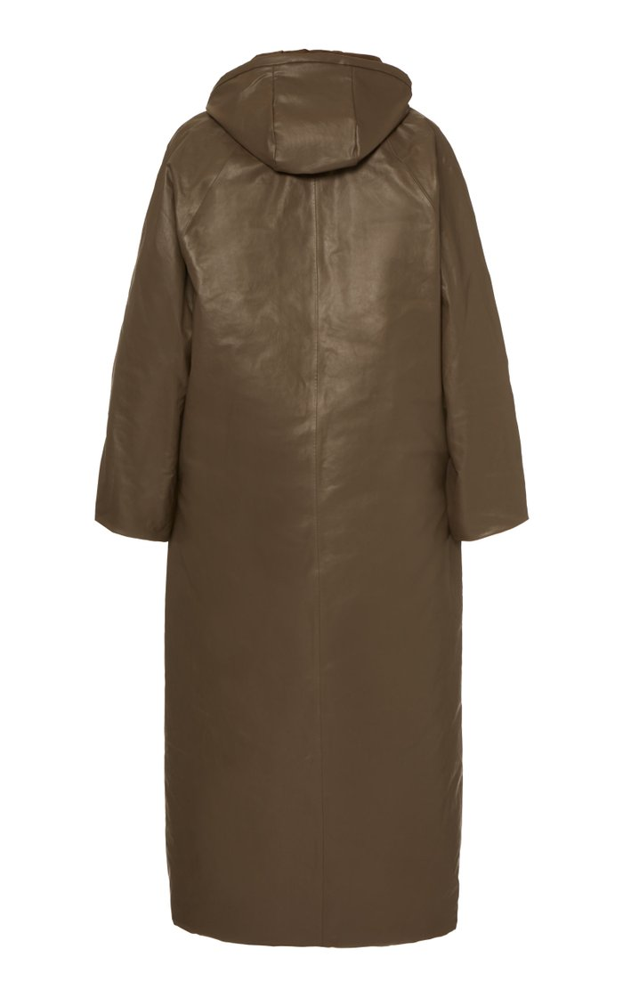 Nylon Maxi Puffer Coat