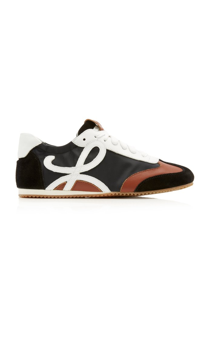 Shell, Leather And Suede Sneakers