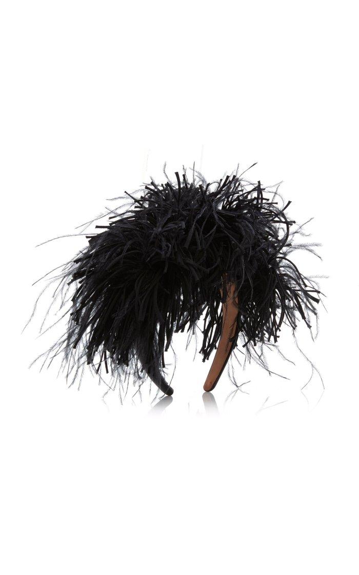 Feather-Embellished Headband