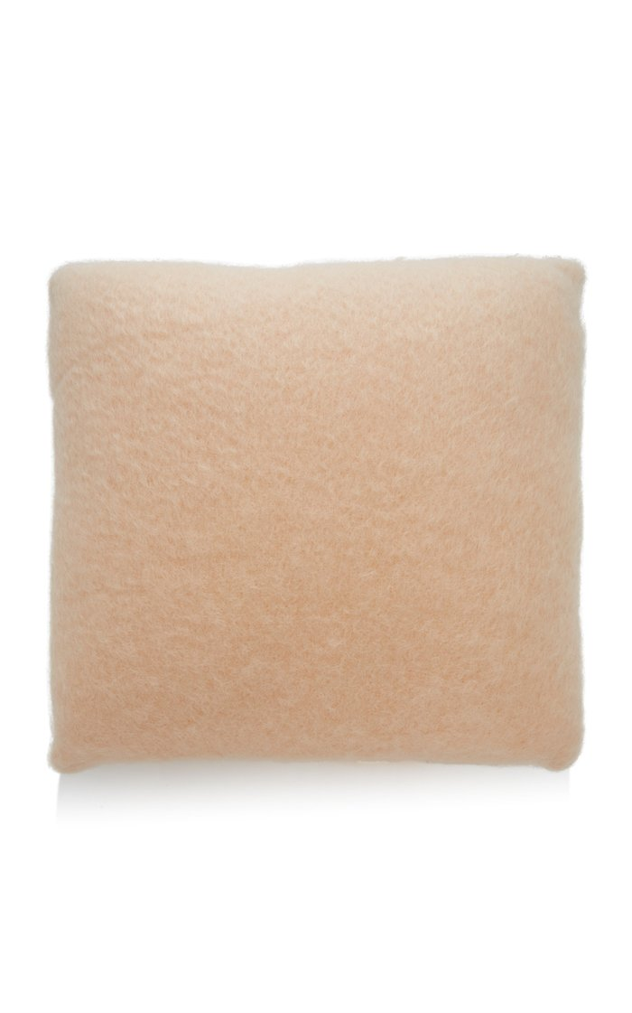 Mohair and Wool-Blend Pillow Cover