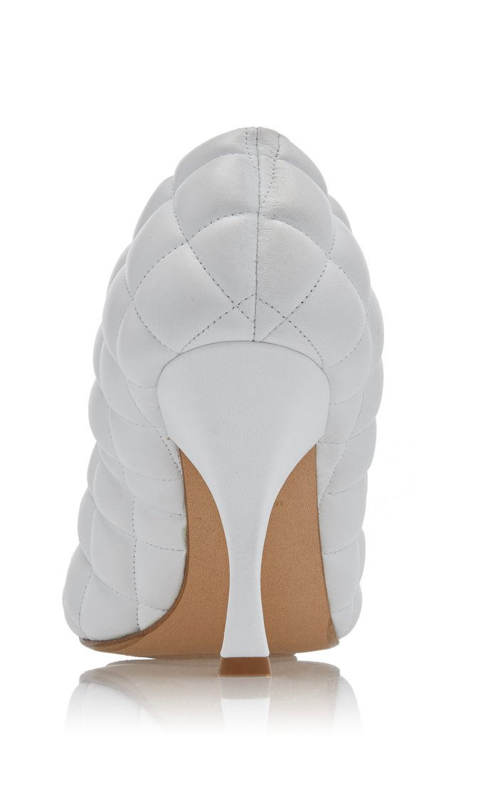 Dream Quilted Leather Cap-Toe Pumps