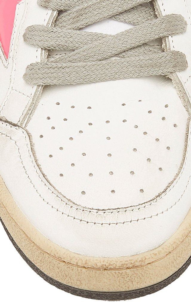 Distressed Leather Sneakers