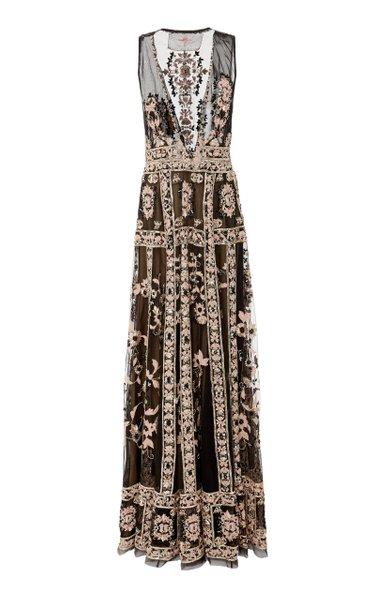Sacred Geometry Silk Organza Gown