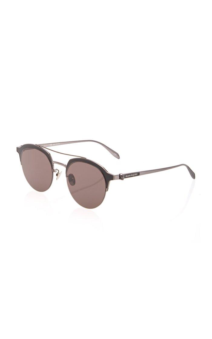 Round-Frame Metal Sunglasses