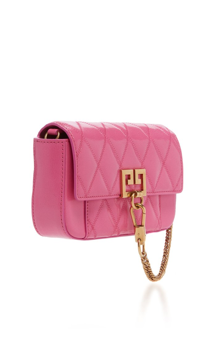Pocket Mini Quilted Leather Clutch