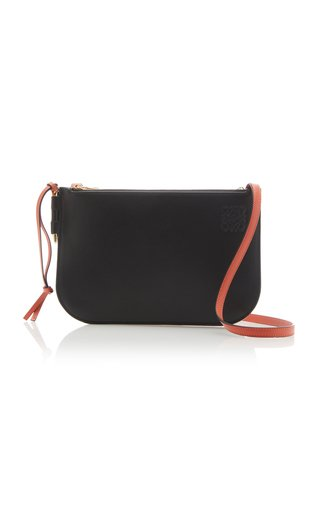 Gate Double Zip Pouch Crossbody Bag
