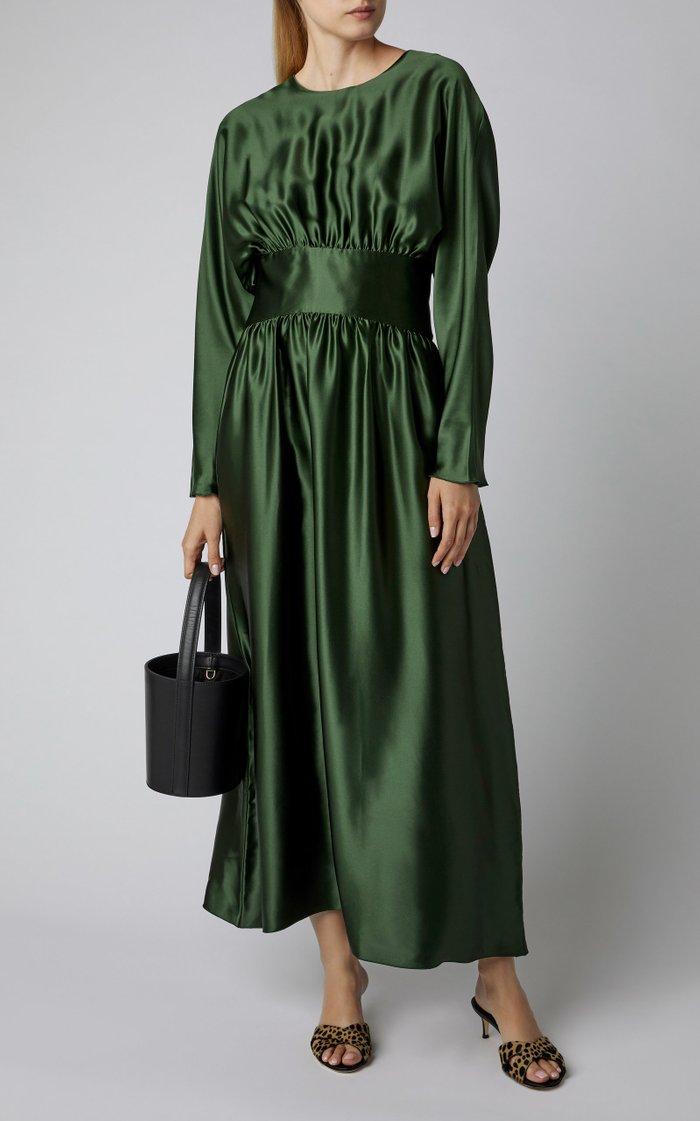 Hermine Silk-Satin Maxi Dress