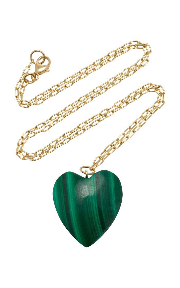 18K Gold And Malachite Necklace