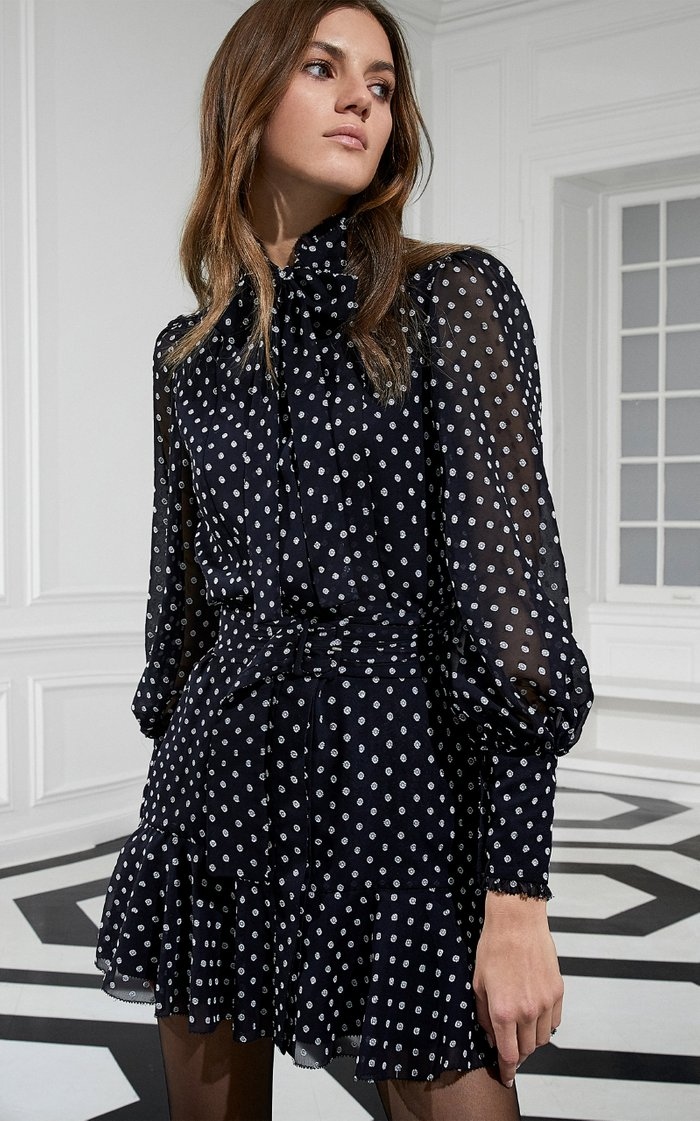 Ivette Ruffled Chiffon Mini Dress