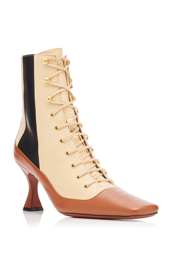 Duck Lace Up Leather Boots