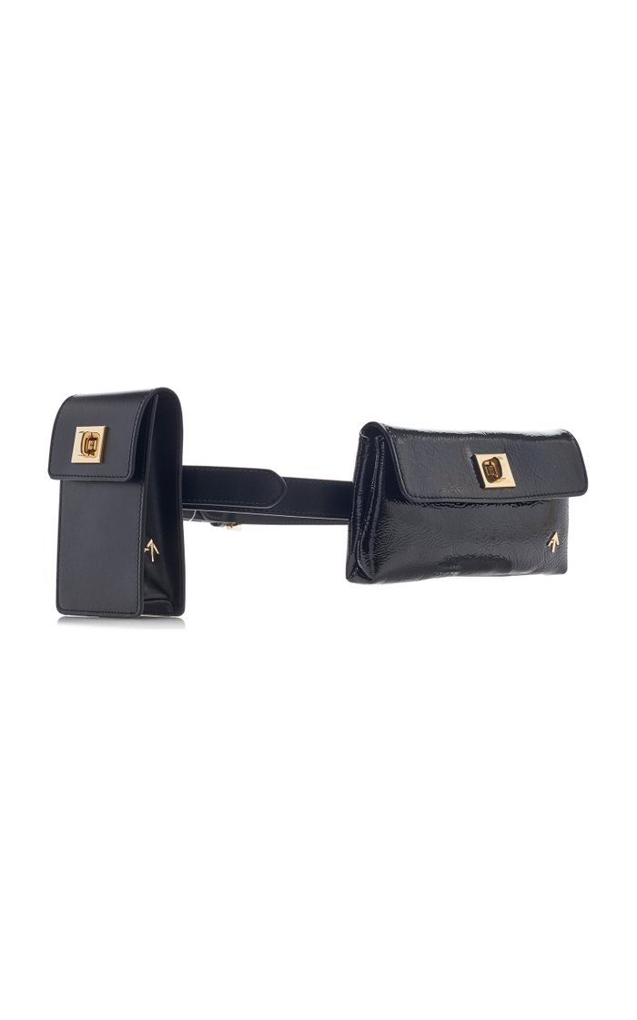 Tech Patent-Leather Belt Bag