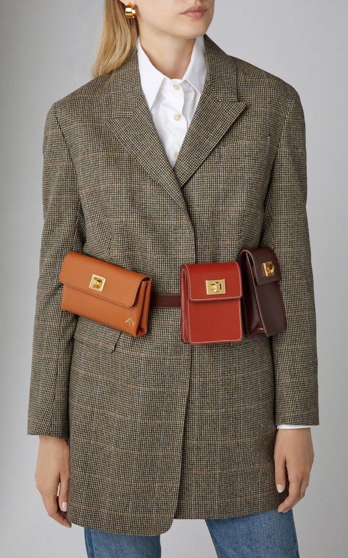 Tech Leather Belt Bag