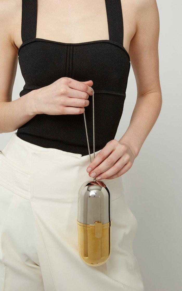 Pill Two-Tone Brass Bag