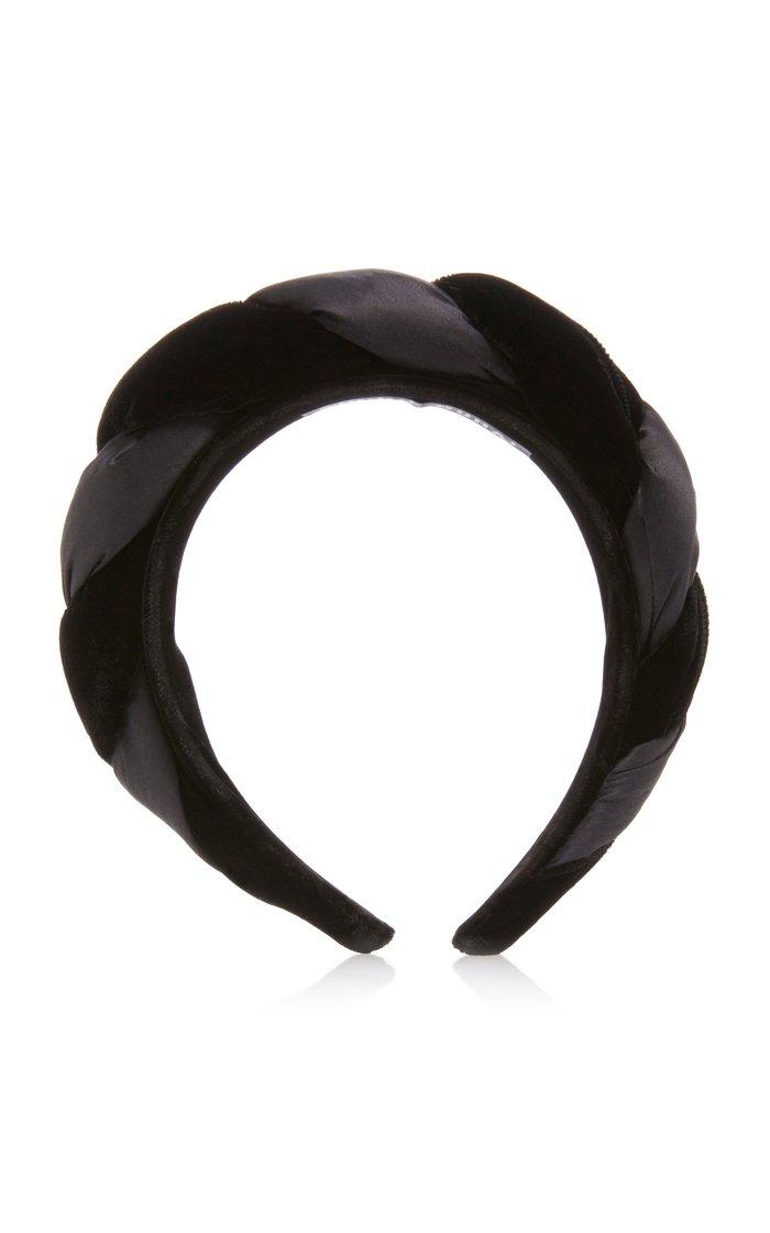 Braided Silk Velvet Headband