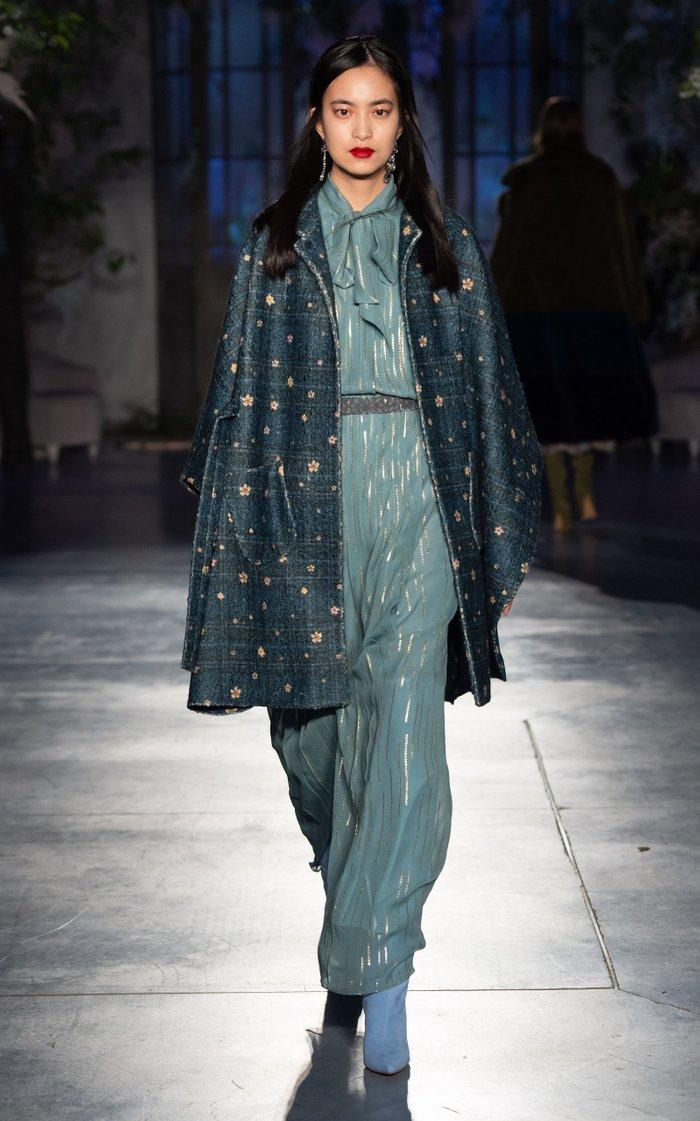 Silk-Blend Chiffon Pussy Bow Dress