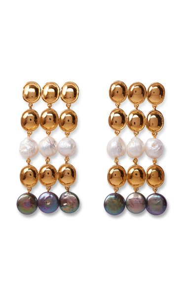 Empress Gold-Plated Brass And Pearl Earrings