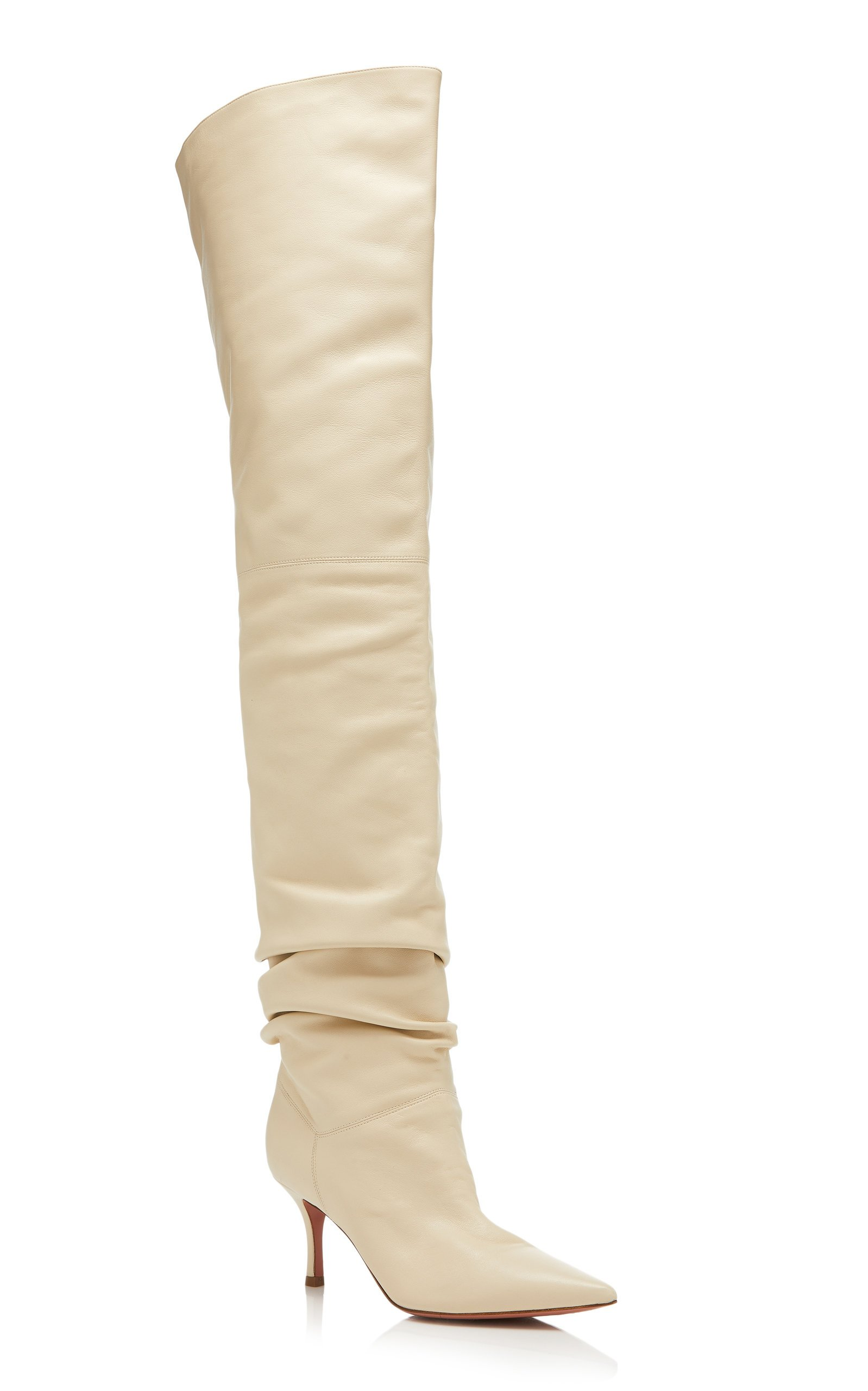 Barbara Leather Over-The-Knee Boots By
