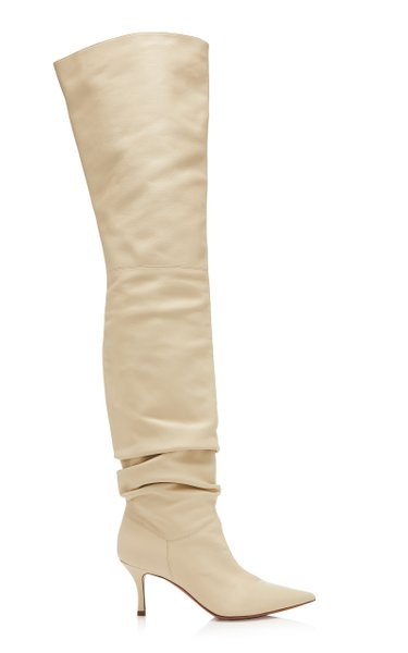 Barbara Leather Over-The-Knee Boots
