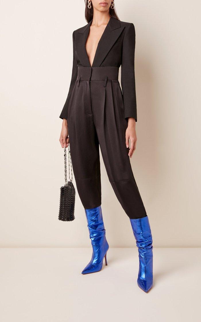 Ida Metallic Leather Knee Boots