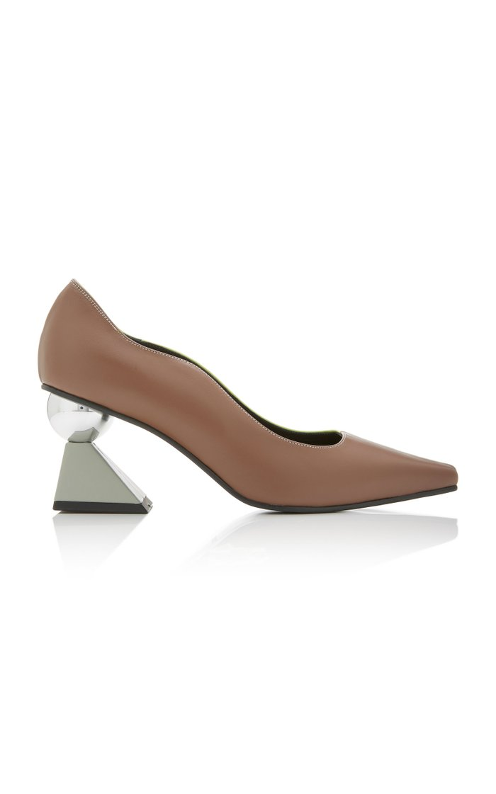 Paola Two-Tone Leather Pumps