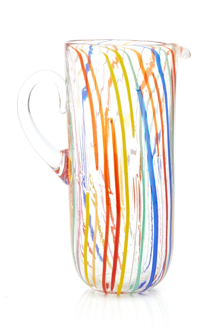 Canne Multi-Color Glass Pitcher