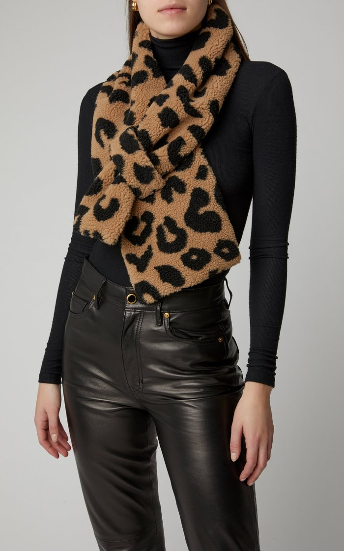 Exclusive Shelley Leopard-Print Faux Fur Scarf