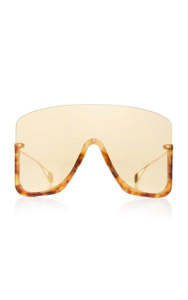 Oversized Acetate Shield Sunglasses