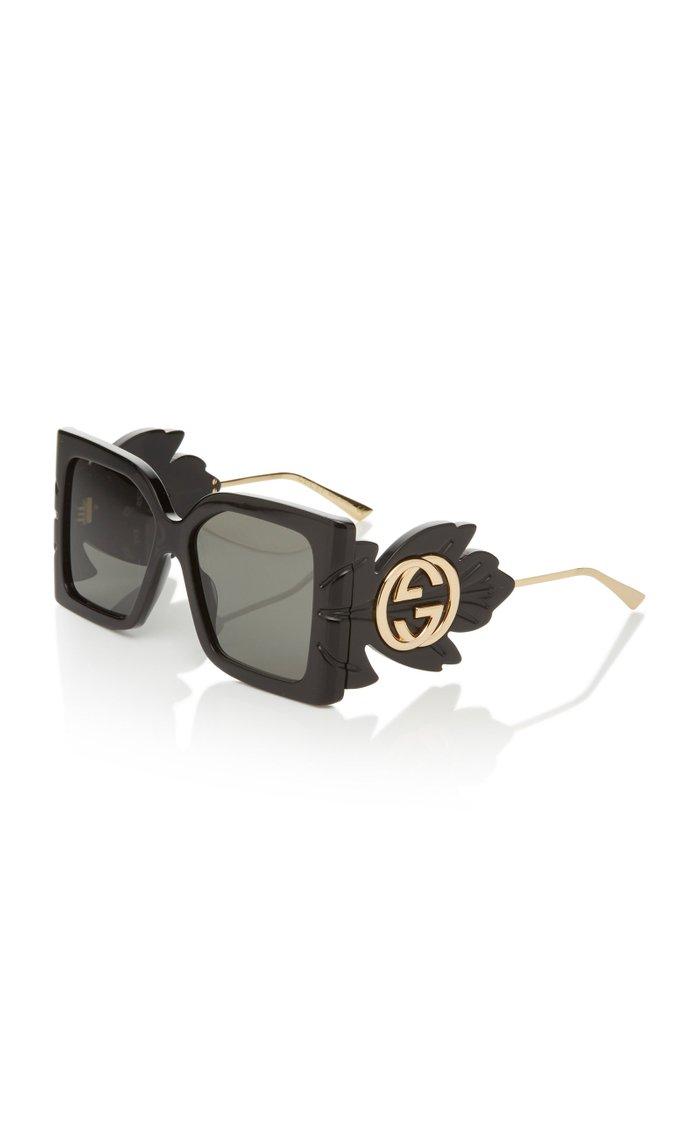 Acetate Oversized Square-Frame Sunglasses