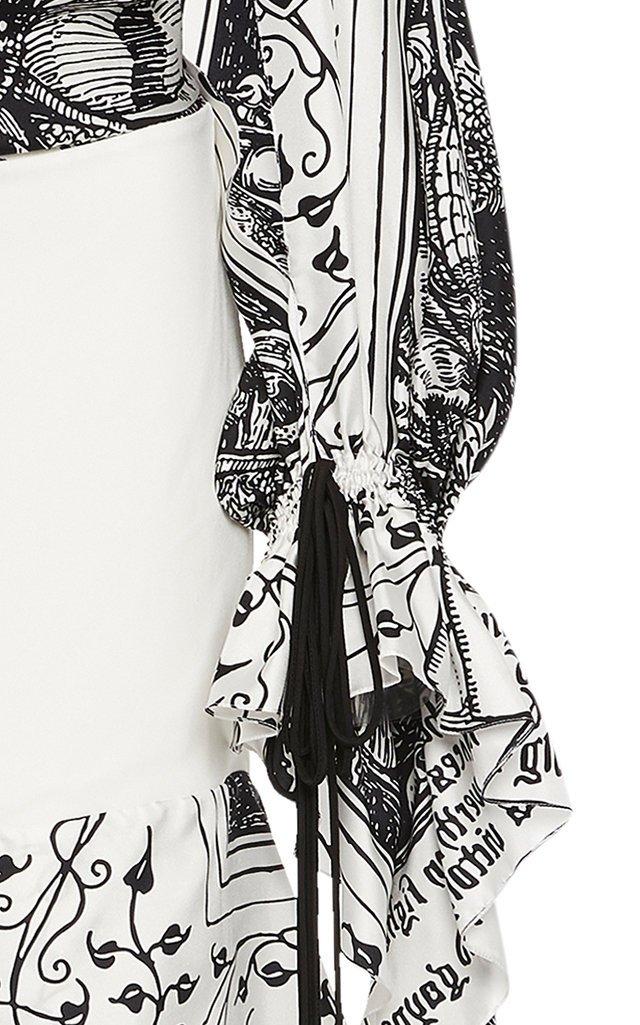 Printed Silk Halter-Neck Maxi Dress
