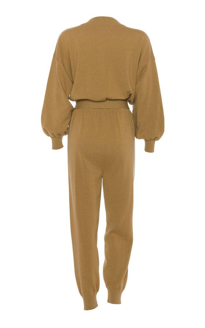 Corvara Belted Wool-Blend Jumpsuit