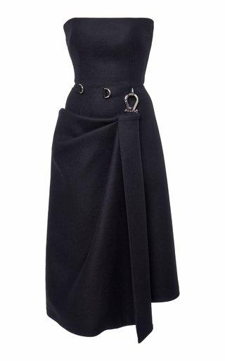 Strapless Wool-Crepe Corset Dress