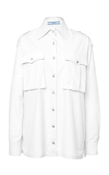 Button-Detailed Cotton Shirt