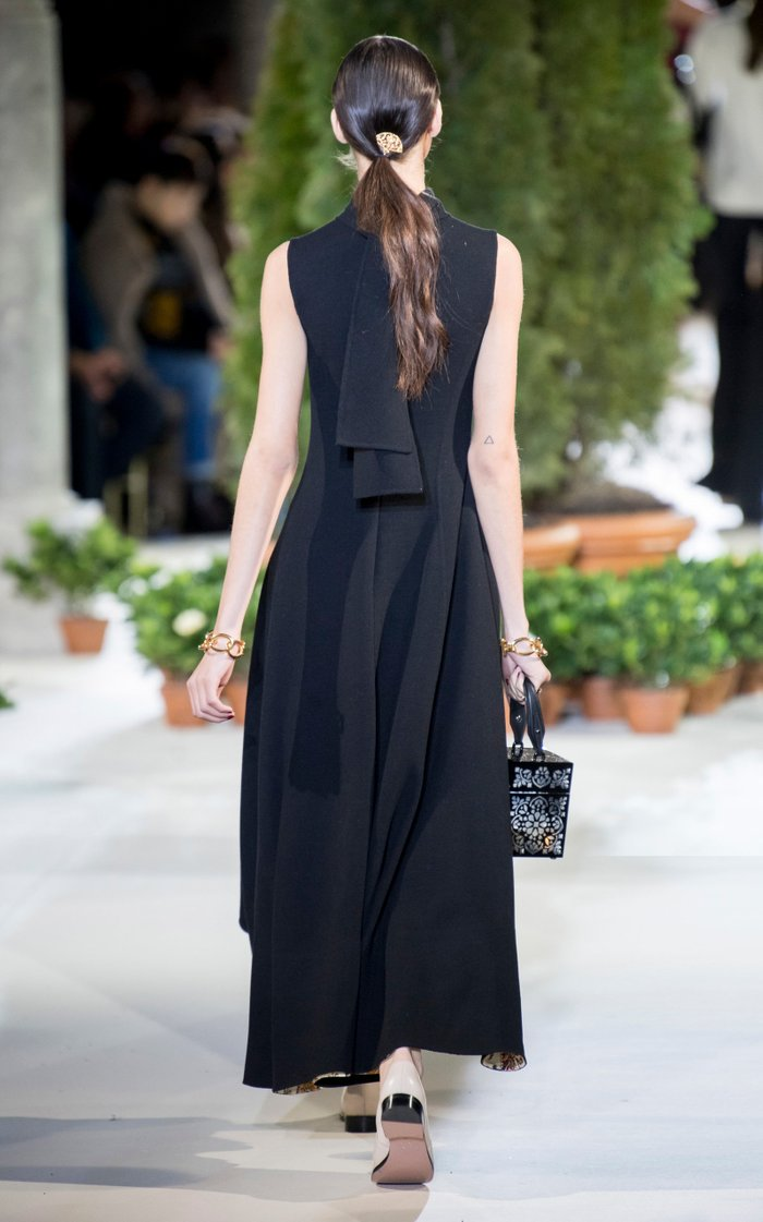 Printed Wool-Blend Midi Dress