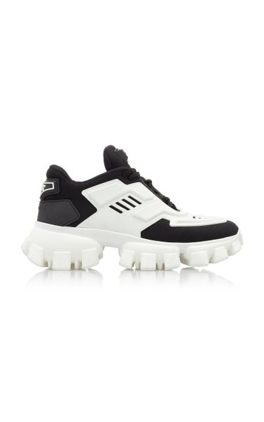 Combat Leather-Trimmed Mesh And Rubber Sneakers
