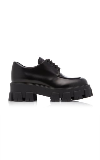 Rubber-Trimmed Leather Brogues