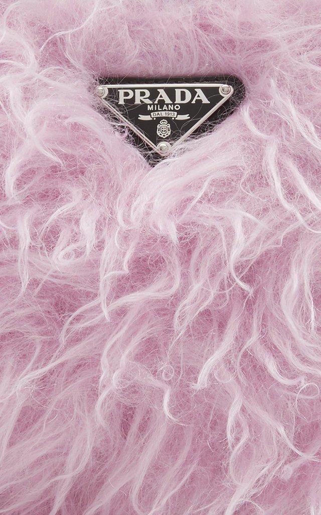 Faux Fur-Paneled Shell Shoulder Bag