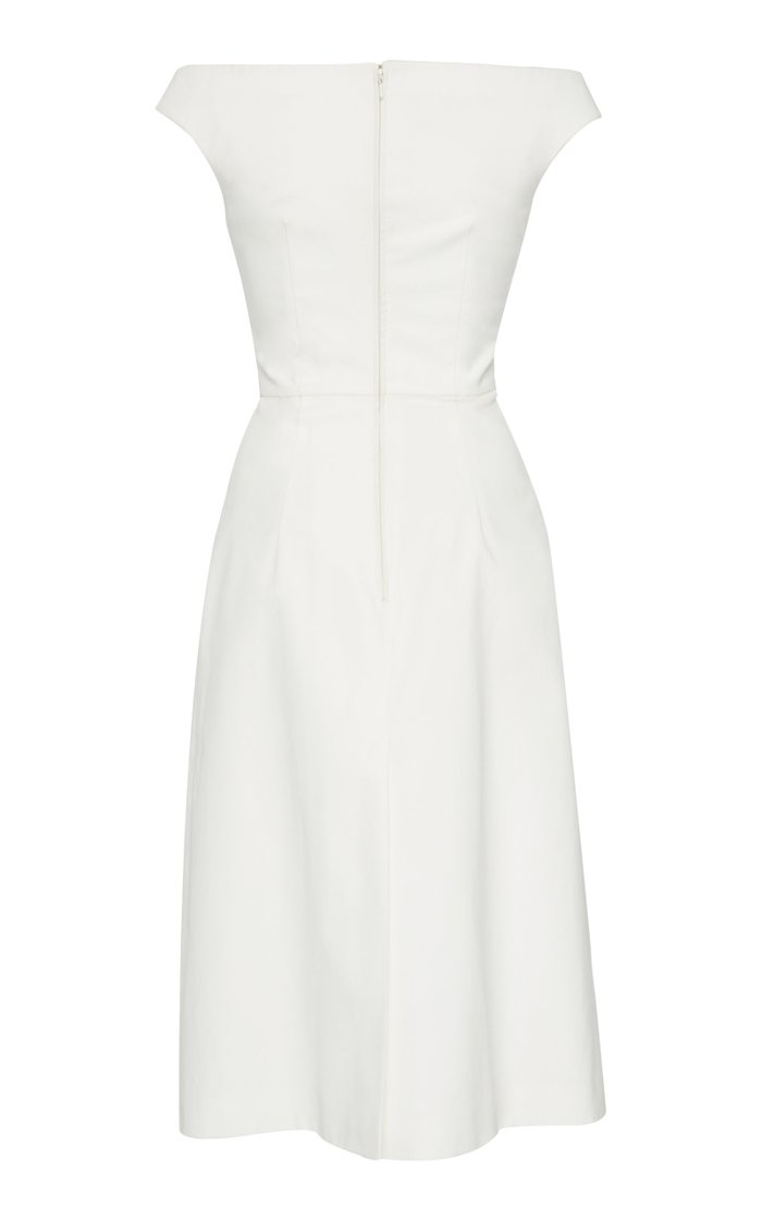 Floral-Print Cotton Midi Dress