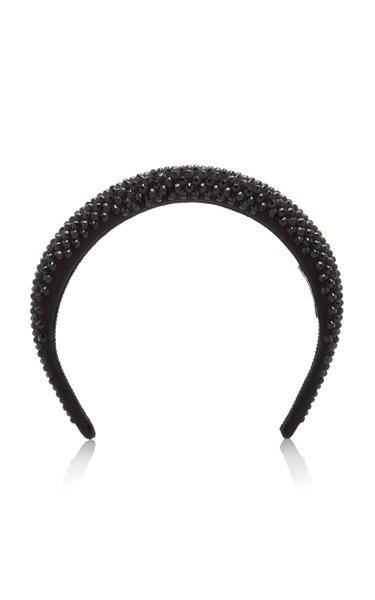Crystal-Embellished Silk-Satin Headband