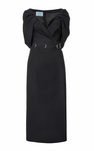 Draped Cady Midi Dress