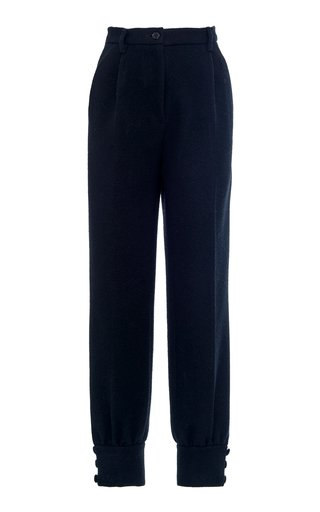 High-Waisted Cinched Ankle Pants