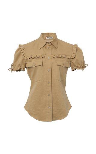 Ruffled Gabardine Shirt
