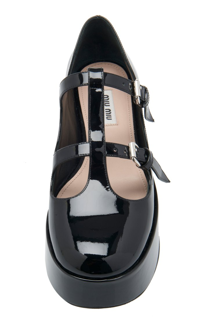 Graphic Buckle Flats