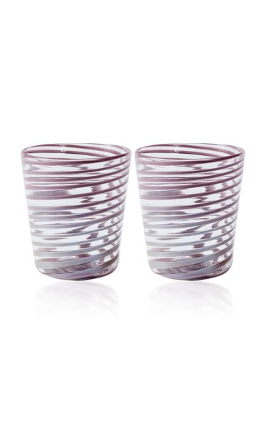 Pink Giravolta Water Glass Set Of 2