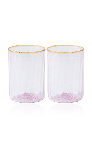 Colombina In Pink Water Glass Set Of 2
