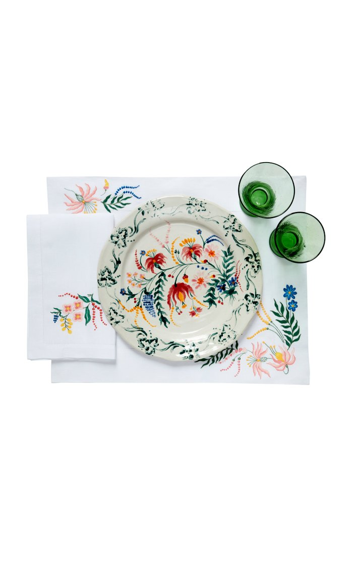 Flora Hand Embroidered  Placemat