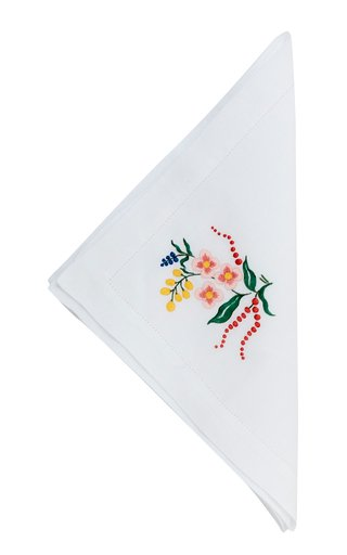 Flora Hand Embroidered  Napkin