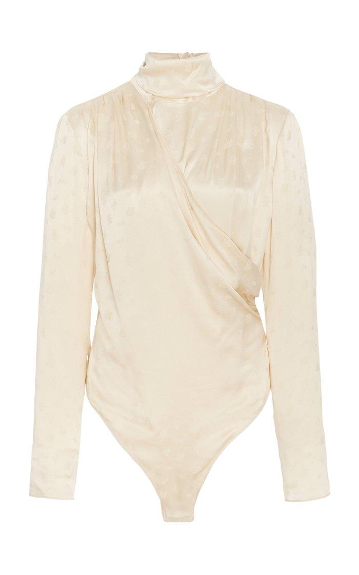 Favara Draped Silk Bodysuit